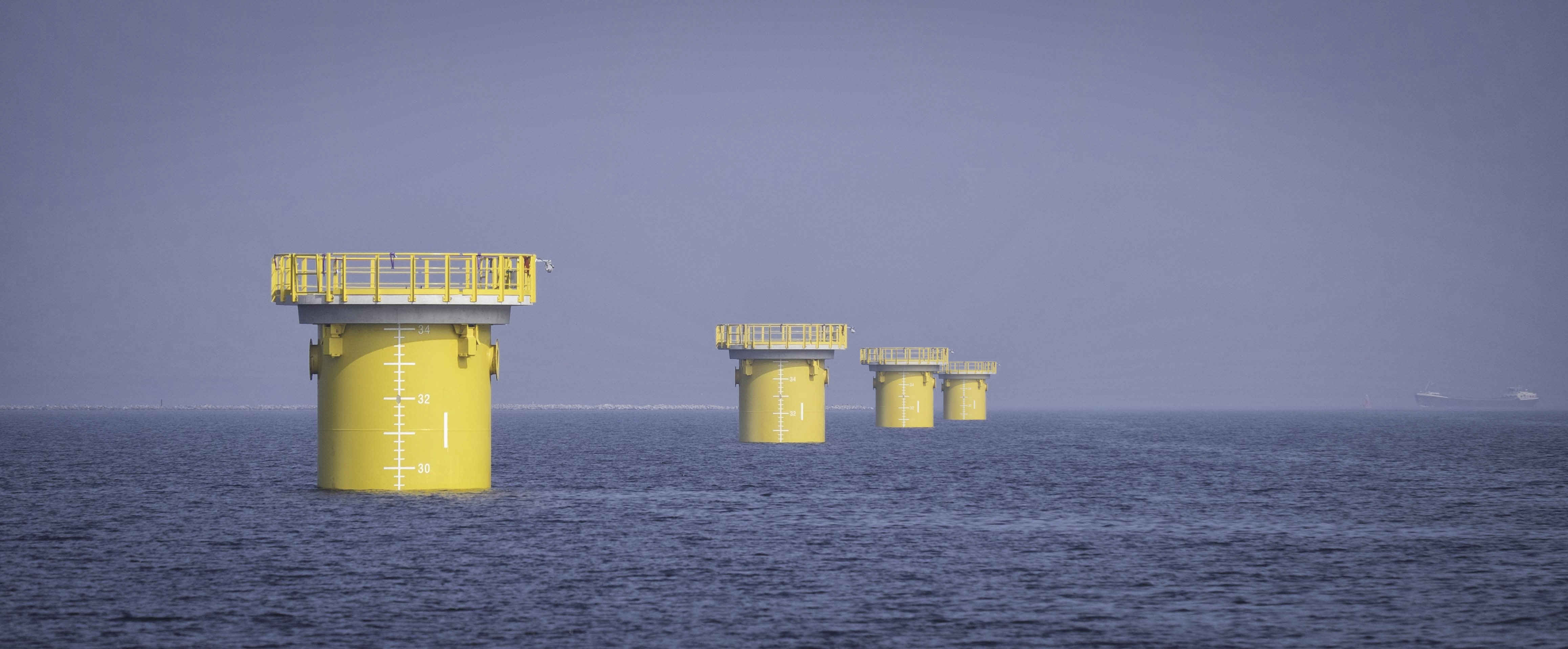 Last foundation pile installed for Westermeerwind nearshore wind farm