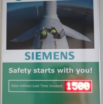 Windpark Westermeerwind 1500 dagen ongelukvrij!